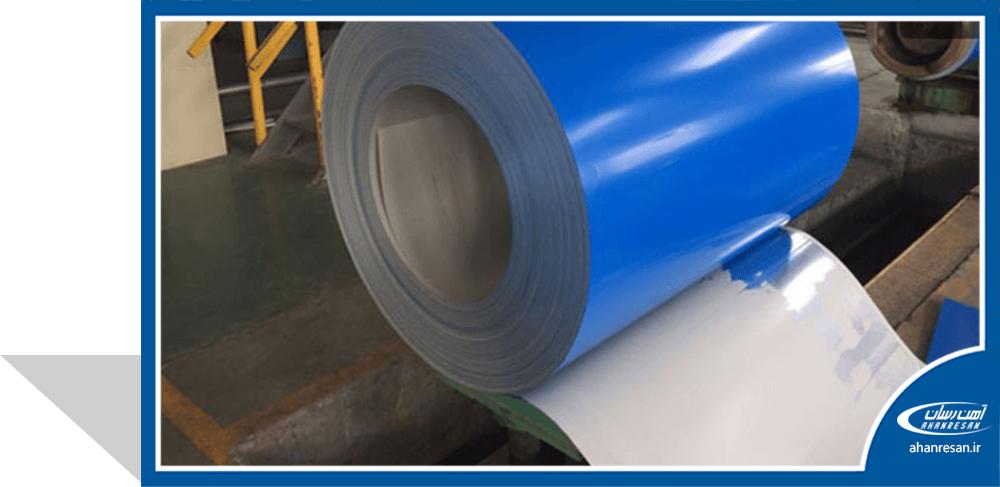 قیمت ورق رنگی فولاد مبارکه 0.7 میل سفید یخچالی 1000