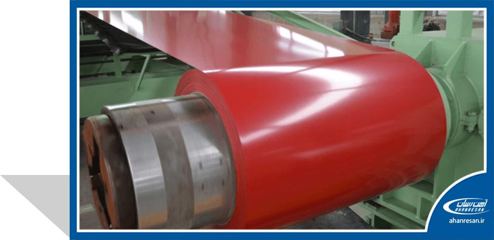 قیمت ورق رنگی فولاد بهمن 0.4 میل قرمز 1000