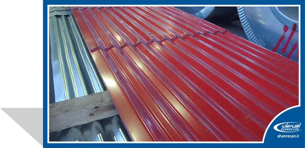 قیمت ورق رنگی فولاد چین 0.45 میل سبز 1000